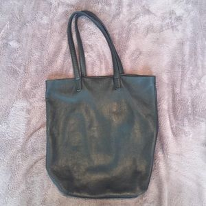 Black Baggu leather tote, very good condition!